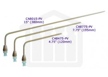 "15"" (380mm) Bent PEEK Sampling Cannula with Luer Adapter Through Head Mount 0.125"" (3.2mm) Diameter VanKel Compatible"