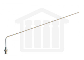 """15"""" (380mm) Bent SS Sampling Cannula with Luer Adapter 1/8"""" (3.2mm) Diameter Hanson Research Compatible"""