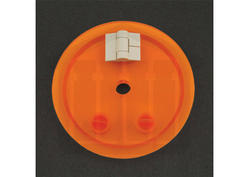 Amber Hinged Vessel Cover with Extra Hole -  Distek Compatible