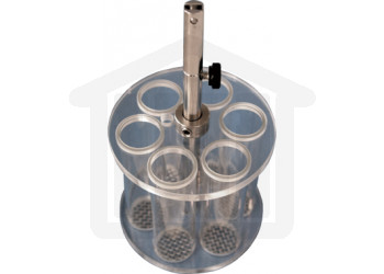 Basket Assembly with 6 Glass Tubes and 10 Mesh SS Screens for VanKel