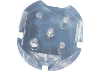 Fluted Plastic Disc for 6 Tube Disintegration Assembly