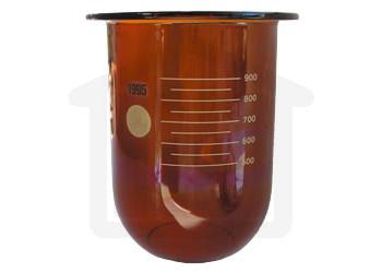 1000ml Hanson Research Compatible Amber Glass Dissolution Vessel, OEM# 72-600-556