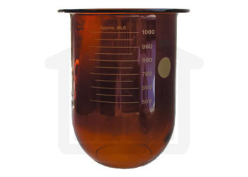 1000ml Erweka Compatible Amber Glass Dissolution Vessel, OEM# 80-000-1004