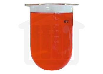 1000ml Erweka Compatible Clear Glass Dissolution Vessel, OEM# 80-000-1002