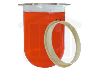 1000ml Distek Compatible Clear Glass Dissolution Vessel with Centering Ring, OEM#3010-0093