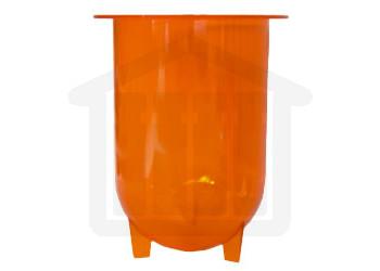 1000ml Distek Compatible Amber Plastic Dissolution Vessel
