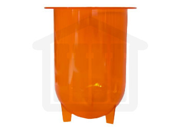 1000ml Hanson Research Compatible Amber Plastic Dissolution Vessel