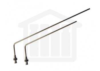 "4.75"" (120mm) Bent SS Sampling Cannula with Luer Adapter for 900ml Sampling 1/8"" (3.2mm) Diameter VanKel Compatible"
