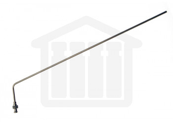 """13"""" (330mm) Bent SS Sampling Cannula with Luer Adapter Through Head Mount Sotax Compatible"""