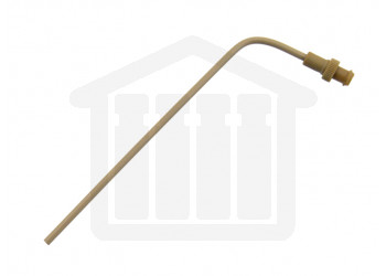 "4.75"" (120mm) Bent PEEK Sampling Cannula with Luer Adapter for 900ml Sampling 1/8"" (3.2mm) Diameter Caleva Compatible"