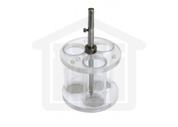 Basket Assembly with 3 Glass Tubes and 10 Mesh SS Screens for VanKel