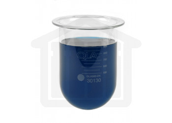 000ml Distek Compatible Clear Glass Vessel, Without Centering Ring