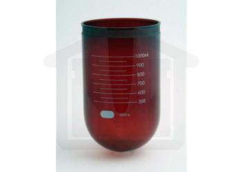 1000ml VanKel Compatible Amber TruCenter Glass Vessel for V-Series Baths