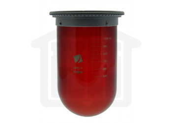 1000ml Hanson Research Easi-Lock, USP Precision Vessel for Vision Series - Amber Glass , OEM Part# 74-104-102