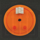 Amber Hinged Vessel Cover Distek Compatible, 3250-0054