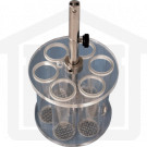 Basket Assembly with 6 Plastic Tubes and 10 Mesh SS Screens for VanKel