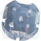 Fluted Plastic Disc for 6 Tube Disintegration Assembly