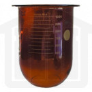 1000ml Distek Compatible Amber Glass Dissolution Vessel, OEM#3010-0023