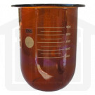 1000ml Hanson Research Compatible Amber Glass Dissolution Vessel, OEM# 72-600-556