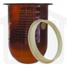 1000ml Distek Compatible Amber Glass Dissolution Vessel with Centering Ring, OEM#3010-0023
