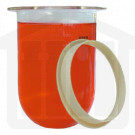 1000ml Zymark Compatible Clear Glass Dissolution Vessel with Centering Ring