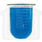 1000ml Distek Compatible Clear Glass PEAK Dissolution Vessel with Ring. OEM# 3010-0550
